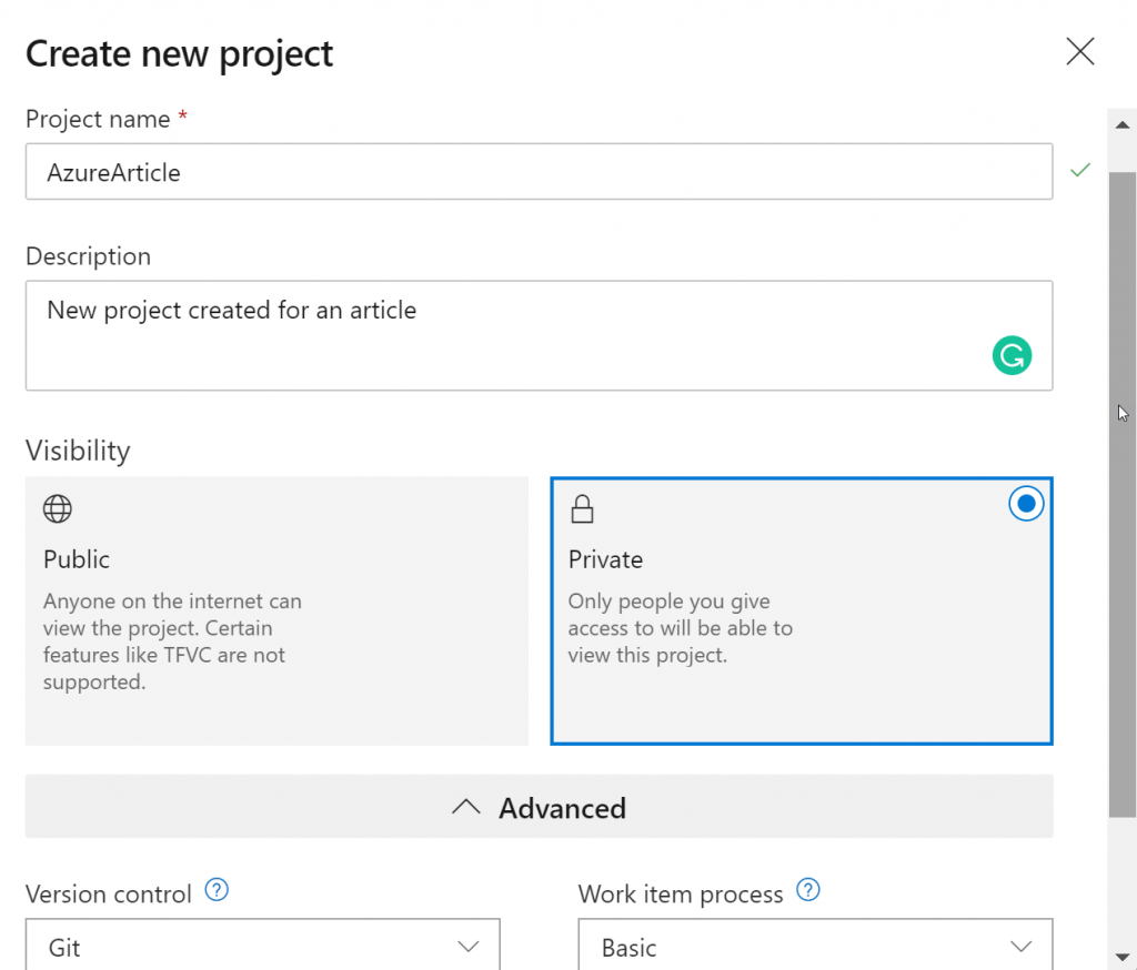 How to add an existing project into Azure DevOps repo with